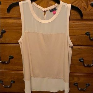 Soft pink/peach sleeveless top by Vince Camuto